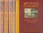 The Complete History Of Australian Cricket 1803-1995 - Boxed Set (5 Books)