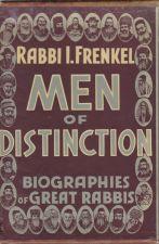 Men of Distinction: Biographies of Great Rabbis (2 Vol)