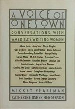 Voice of One's Own: Conversations with America's Writing Women