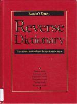 Reverse Dictionary