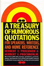 A Treasury of Humorous Quotations For Speakers, Writers, and Home Reference