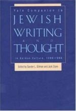 Yale Companion to Jewish Writing and Thought in German Culture, 1096-1996